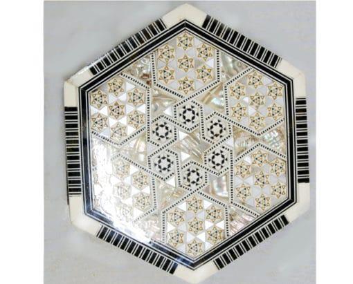 caja taracea exagonal Egipto