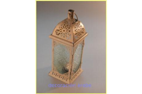 Farol marroquí dorado vela