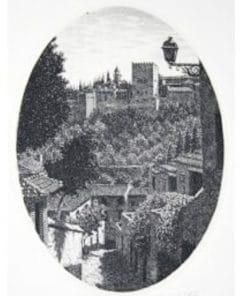 grabado artístico del albaicín, Granada