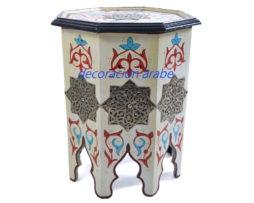 mesa árabe octogonal, blanco