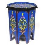 mesita de noche marroquí octogonal azul