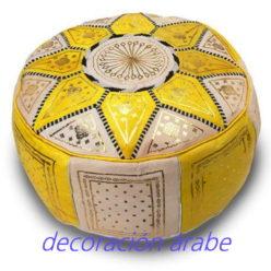 puff marroquí amarillo