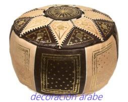 puff marroqui negro