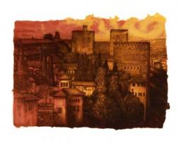 Jose Manuel Peña: Grabado – Alhambra II