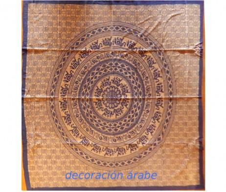 colcha india azul elefantes cartuchos