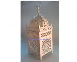 farol marroqui rectangular blanco