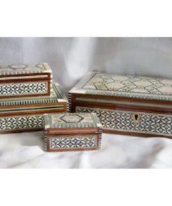 cajas taracea Egipto rectangular