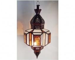 lámpara marroquí arcos árabes ámbar 70 cm x 35 cm