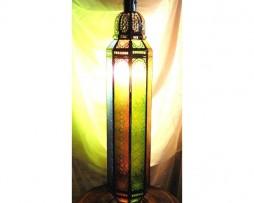 Lámpara de cristal columna de colores- 100 cm x 20 cm