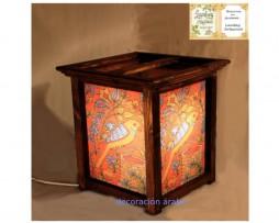 lámpara artesanal loro Medidas: 30 cm x 20 cm