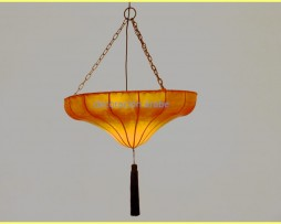 Lámpara marroquí en piel y forja