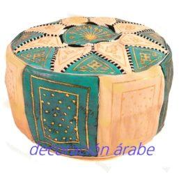 Puff marroquí azul celeste