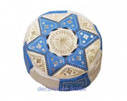 puff árabe azul