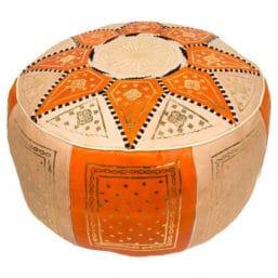 puff árabe naranja