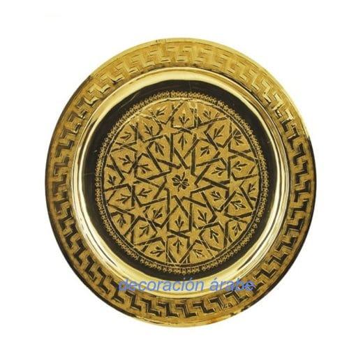bandeja marroquí dorada