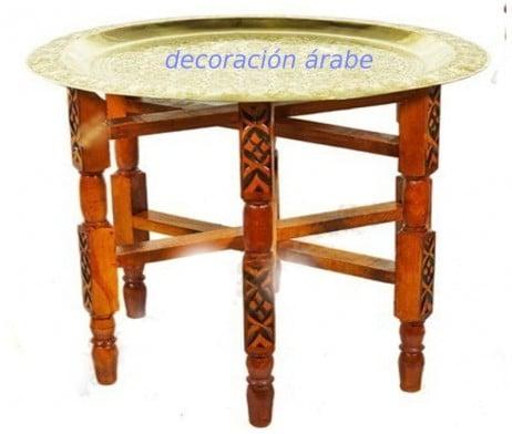 patas de madera plegable bandeja marroquí