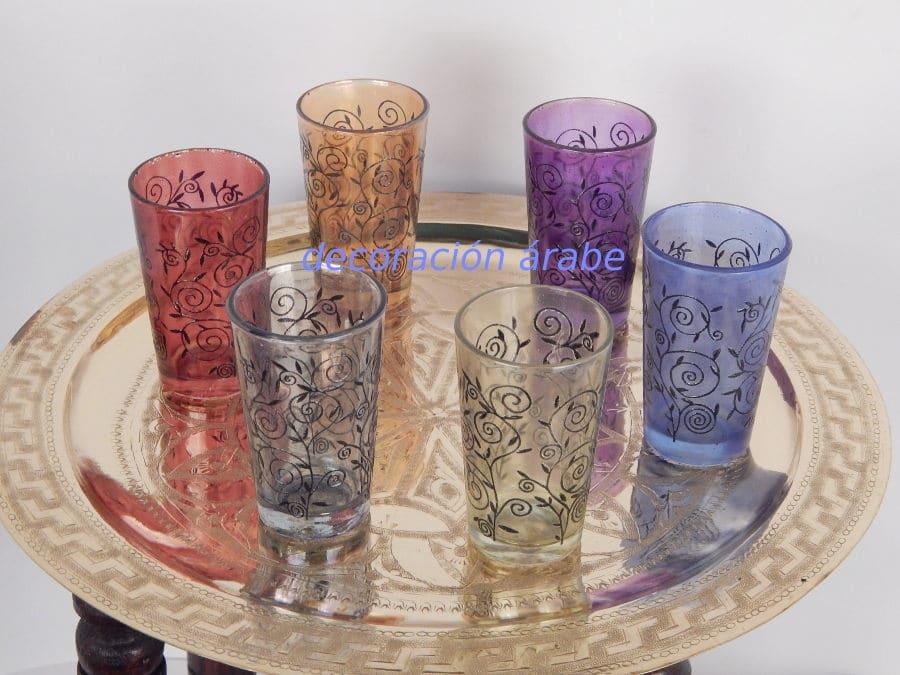 Vasos t rabes floral henna decoraci n y artesan a rabe for Vasos de te