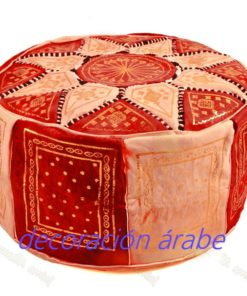 puff árabe rojo