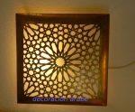 Aplique dorado celosía árabe