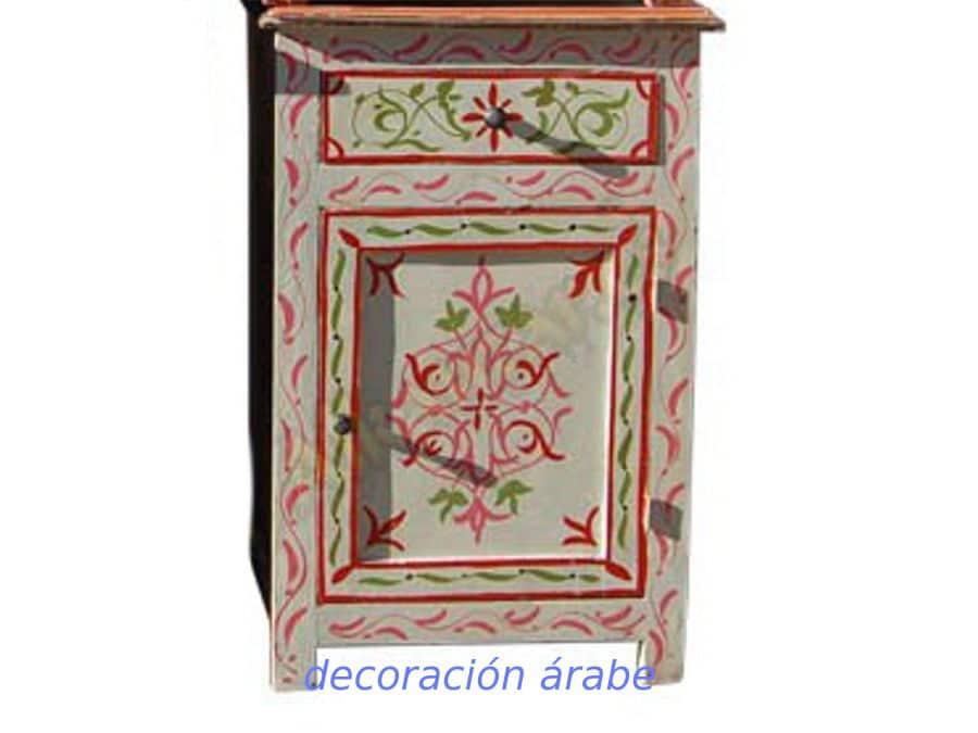 Mesa de noche estilo rabe diferentes colores for Muebles marroquies online