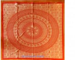 colcha india elefantes floral roja