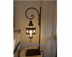 lámpara árabe pon pon blanca