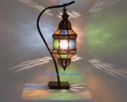 lámpara marroqui pon pon multicolor