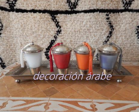 porta velas marroquí