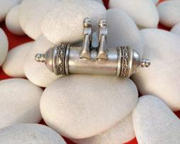 colgante india plata amuleto