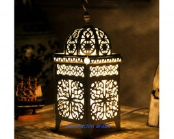 farol árabe dorado rectangular