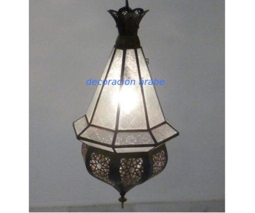 lámpara árabe marroqui Lustre blanca