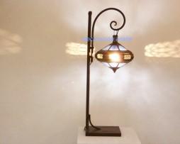 lámpara árabe tupie, azul