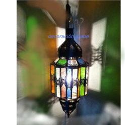 lámpara octogonal árabe multicolor
