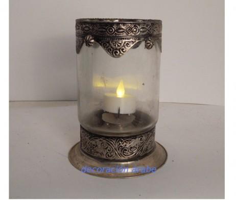 Porta velas árabe alpaca