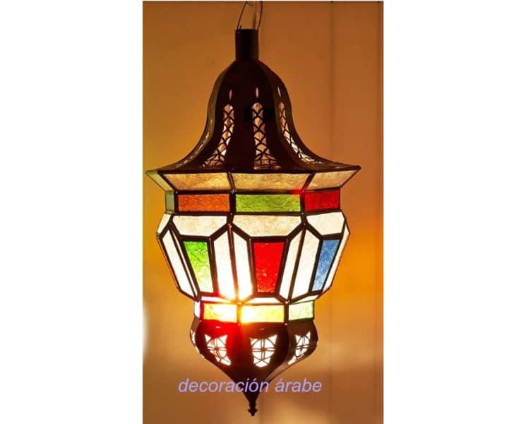 lámpara marroquí multicolor