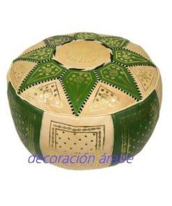 puff árabe piel verde