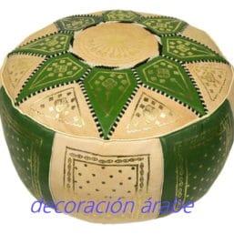 puf marroquí verde
