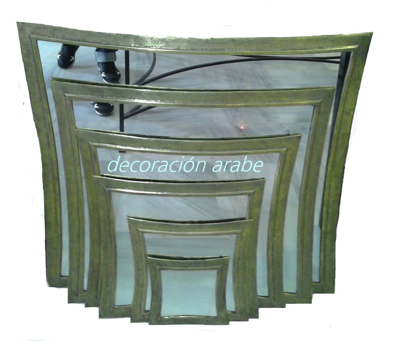 Espejos rabes ovalados dorados y plateados decoraci n y for Espejos dorados ovalados