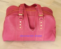 bolso de viaje rosa