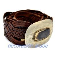 cinturón cuero trenzado