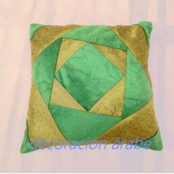 cojín árabe verde