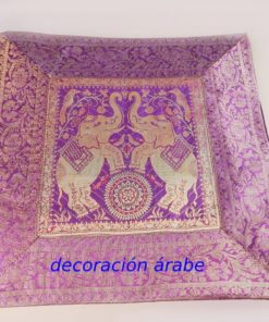 funda cojín india morado