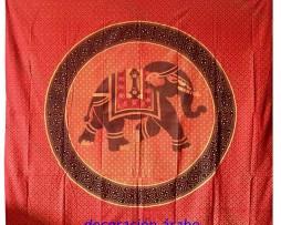colcha india elefante bermellón