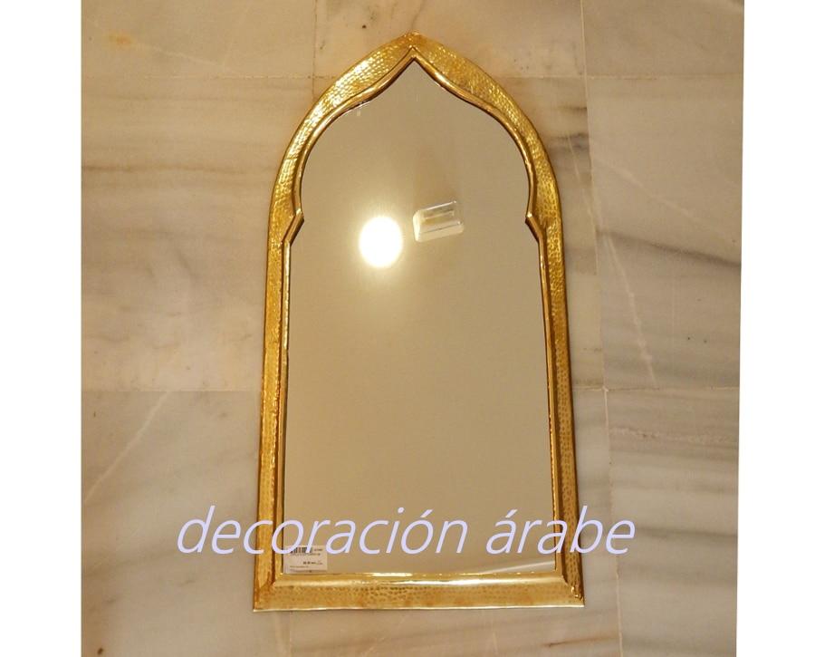 Espejo oriental diferentes tama os plateados for Espejos grandes plateados