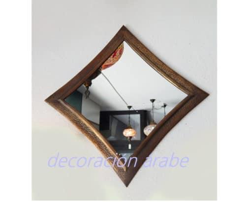 espejo marroquí ovalado dorado