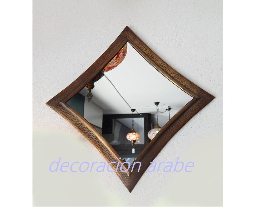 Espejos rabes ovalados plateados for Espejo ovalado dorado