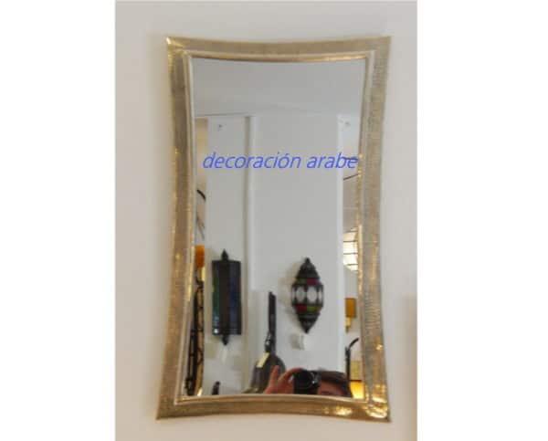 Espejo rabe ovalados plateado for Espejo ovalado