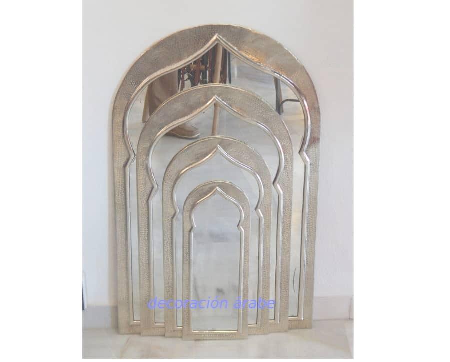 Espejo oriental diferentes tama os plateados for Espejo plateado grande