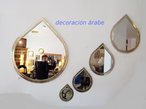 Espejos marroquí latón