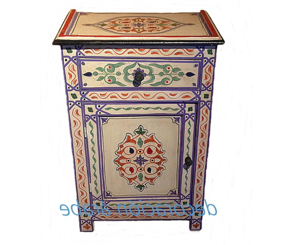 Mesa de noche estilo rabe diferentes colores for Muebles estilo arabe